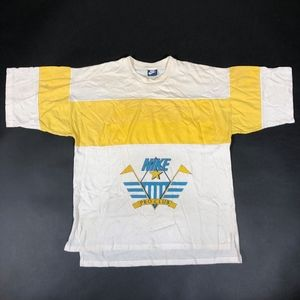 Vintage Nike Pro Club Blue Tag Spell Out 1980s Tee